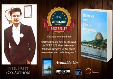 Neel Preet's second book, JOURNEY With TIME PLACE And CIRCUMSTANCES becomes the 4th BEST-SELLER on Amazon